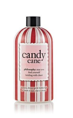 Philosophy Candy Cane Shower Gel, 16 Ounce by Philosophy. $20.00. Crisp peppermint scent invigorates the senses. Leaves skin and hair feeling ultra soft. Multitasking, 3-in-1 formula. May you find yourself twirling with cheer as you lather with candy cane shampoo, shower gel and bubble bath. the crisp, cooling peppermint scent invigorates your senses, as you enjoy a rich, foaming lather that cleanses and conditions from head to toe. the moisturizing formula leaves skin and hai...