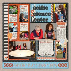 Pacific Science Center by Misty Cato using Words and Pictures Templates 2
