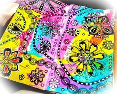 Doodles over acrylic paint idee per diario, arte doodle, arte fai da te, ar Cute Unicorn, Ideas Scrap, Deco Miami, Steven Universe, Makeup Vintage, Journal Vintage, Art Journal Pages, Art Journaling, Drawing Journal