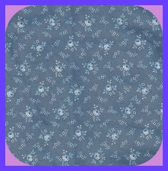 Granny Print Calico COTTON FABRIC Shades of Blue Half Yard by TheMaineCoonCat on Etsy