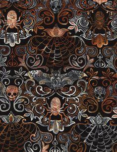 Halloween Motifs Novelty Fabric by Timeless Treasures at TCSFabrics.com #Fabric #QuiltingCotton #CottonFabric #HalloweenFabric #NoveltyFabric #TimelessTreasures #HalloweenMotifs #C4577 #Wicked #Quilting #Sewing