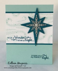 creatingwithcolleen.typepad.com, Star of Light, framelits, Christmas card, Stampin' Up!
