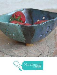 Square Berry Bowl handmade ceramic berry rinse bowl small colander pottery fruit colander kitchen sieve kitchen gifts from Manuela Marino Ceramic http://www.amazon.com/dp/B01ETXDKRS/ref=hnd_sw_r_pi_dp_NMmixb02QQGFG #handmadeatamazon