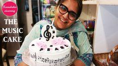 The Music Cake: Free Tutorial Cartoon Birthday Cake, Animal Birthday Cakes, Cute Birthday Cakes, Frozen Birthday Cake, Birthday Cakes For Teens, Beautiful Birthday Cakes, Teen Birthday, 16th Birthday, Happy Birthday Sister Cake