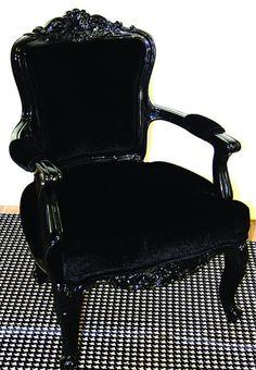 Black Regency Philippe Glossy chair
