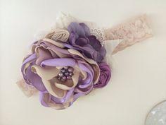 Lavender Nude Headband-Baby Girl por AvryCoutureCreations en Etsy