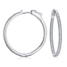 SILVEGO Stříbrné kruhové náušnice KARIN 3 cm JJJ0107