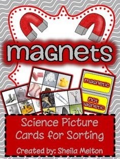 I love using real pictures in science...and so do my students! This physical science unit about magnets includes 24 picture cards - 12 magnetic objects and 12 non magnetic objects. Also includes recording sheets making them perfect for your Science Center!!