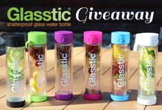 Two lucky winners will each receive a Glasstic Shatterproof Glass Water Bottle of their choice. #Giveaway via @mefragrance ends 1/4/16