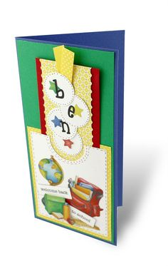 Classic School Stickers Card with Bookmark Project