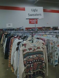Ugly Sweaters.