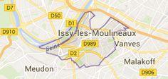 Issy-les-Moulineaux France: carte
