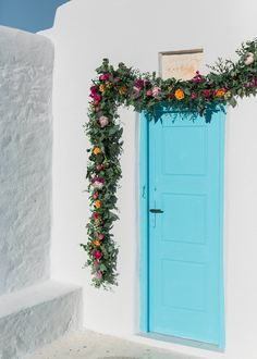 Modern colorful glam wedding in Mykonos