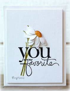 THUD! What a beauty of a card by Birgit Edblom! The words are from Favorite Memories by Ali Edwards from TechniqueTuesday.com.