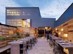 restaurant or event space concept-love the materials and texture