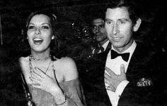 Grace & Family:  Princess Caroline of Monaco and Prince Charles during a party in 1977.