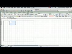 ▶ How to Make a Floorplan in Excel : Microsoft Excel Tips - YouTube
