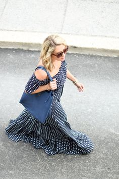LOFT French Hen Maxi Dress | cold shoulder maxi dress