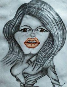 Caricature Brigitte Bardot