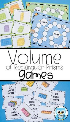 This volume of rectangular prisms bundle provides 5th grade students the activities they need to reinforce the conceptual understanding of counting cubes to find volume. Your kids will enjoy these fun math activities, including building 3 dimensional folded notes that can be filled with cubes, matching games, a board game, digital task cards, and worksheets. Watch your classroom come to life with these engaging activities.