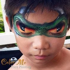 Boy Face Painting /  Monster Eyes  - Color Me Face Painting