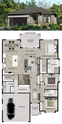 Haus How Long to Install a New Roof? Sims House Plans, House Layout Plans, Family House Plans, New House Plans, Dream House Plans, Modern House Plans, Small House Plans, House Layouts, Bungalow House Design