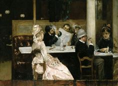 Cafe Paintings (19th and 20th centuries) ~ Blog of an Art Admirer
