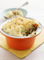 Delish Easy- Veggie Shepherds Pie: http://vegetarian.about.com/od/maindishentreerecipes/r/creamysheppie.htm