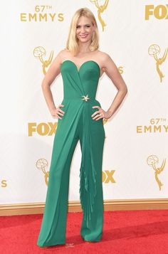 January Jones no Emmy Awards (Foto: Getty Images)