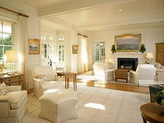 Browse the exterior and interior images of Edgartown Harbor Makeover located in historic Edgartown, Martha's Vineyard House, Interior, Floor Design, Family Room, Home, Family Living Rooms, House Interior, Edgartown, Great Rooms