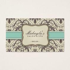 Pink Black Damask Baby Shower Favor Tags Business Cards. Make your ...
