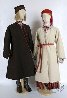 Folk costumes from Chełm region, Poland - turn of centuries. Ethnic Clothes, Ethnic Outfits, Folk Clothing, Folk Costume, Warsaw, Poland, Textiles, History, Stylish