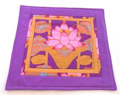 Pink lotus quilted altar mat travel altar mat candle mat crystal mat statue mat one card tarot cloth pink red turquoise orange gold One Card Reading, One Card Tarot, Altar Cloth, Orange Leaf, Pink Lotus, Orange And Turquoise, Purple Backgrounds, Outdoor Blanket, Candles