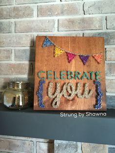 "Custom order board - measures 12"" x 12"". #stringart  Facebook.com/strungbyshawna Diy Crafts, Nail, Facebook, Create, Board, Design, Decor, Dekoration, Decoration"