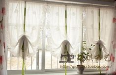 White rose curtain fashion balloon anode screening rustic shengjiang curtain roman blinds cloth Free shipping-inCurtains from Home & Garden on Aliexpress.com | Alibaba Group