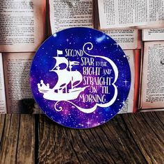 Excited to share the latest addition to my #etsy shop: Peter Pan Coaster - Second Star To The Right Quote -Galaxy Design - Gifts For Book Lovers  etsy.me/2OelUfY