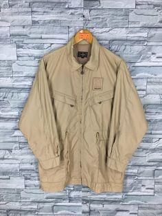 bce9bba1d17 Vintage 90 s FENDI ROMA Jeans Jacket Large Fendi Zucca Brown Color Italy  Designer Parka Coat Sports Jacket Size L
