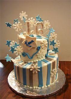 Sweet 16 winter cake www.lindascakery.com