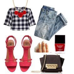 A fashion look from July 2015 featuring navy t shirt, distressed jeans and h&m shoes. Browse and shop related looks. Butter London, Zac Posen, Girls Night Out, Polyvore Fashion, J Crew, Jackson, Cute Outfits, Shoe Bag, Film