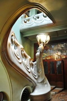 Marble staircase in Gorky House.