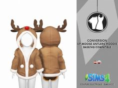 Venus Princess Moose Antlers Hoodie by Thiago Mitchell at Coupure Electrique Sims 3, The Sims 4 Pc, Sims 4 Mm Cc, Sims Four, Sims 4 Game, Sims 4 Toddler Clothes, Sims 4 Cc Kids Clothing, Sims 4 Mods Clothes, Los Sims 4 Mods