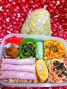筍ご飯が下に隠れてます ・ω・`) - 12件のもぐもぐ - 筍ご飯&パスタ弁当 筍ご飯おにぎり by katyou