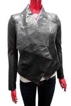 BCBGMAXAZRIA Leather Blazer Jacket