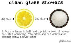 Clean glass showers