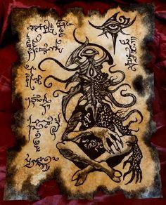 Noth Incantations by MrZarono on DeviantArt Demon Book, Demon Art, Hp Lovecraft, Dark Fantasy, Fantasy Art, Necronomicon Lovecraft, Call Of Cthulhu Rpg, Beautiful Dark Art, Dark Artwork