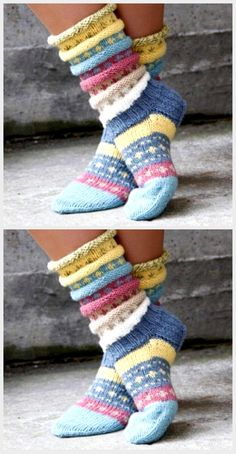 Tutti Frutti sokken Norwegische Strickidee f r h bsche Socken - Stric Frutti f r h bsche Norwegische Socken sokken Stric Strickidee Tutti Intarsia Knitting, Knitting Socks, Free Knitting, Knitting Patterns, Crochet Patterns, Crochet Socks, Knitting Tutorials, Knitted Slippers, Knitting Machine