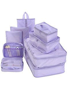 Amazon.com | Travel Packing Cubes Set Toiletry Kits Bonus Shoe Bag JJ POWER Luggage Organizers (Star (bilayer)) | Packing Organizers