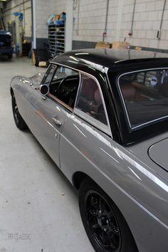 MGB RRC Grey - Black hardtop - by RR Classic Convertible, Mg Midget, Mg Cars, British Sports Cars, Car Tuning, Porsche 356, Sport Cars, Jaguar, Cars And Motorcycles