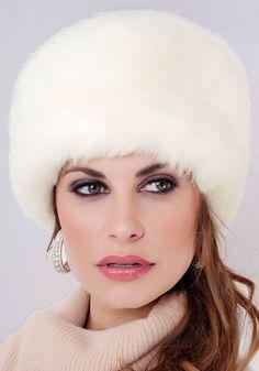 Winter White Mink Faux Fur Russian Hat