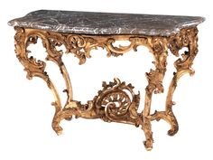 French Louis XV console, 18th century.
